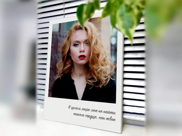 Портрет на холсте в стиле фотографии Полароид