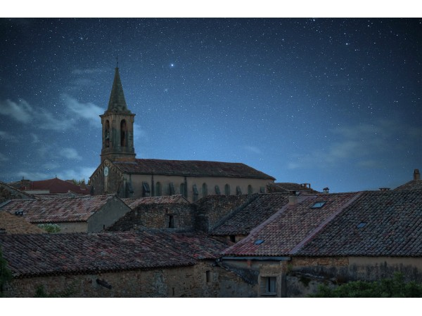 Крыши ночного города